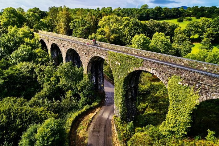 The Durrow Viaduct is part of the Waterford Greenway, a 29-mile off-road cycling and walking trail ...
