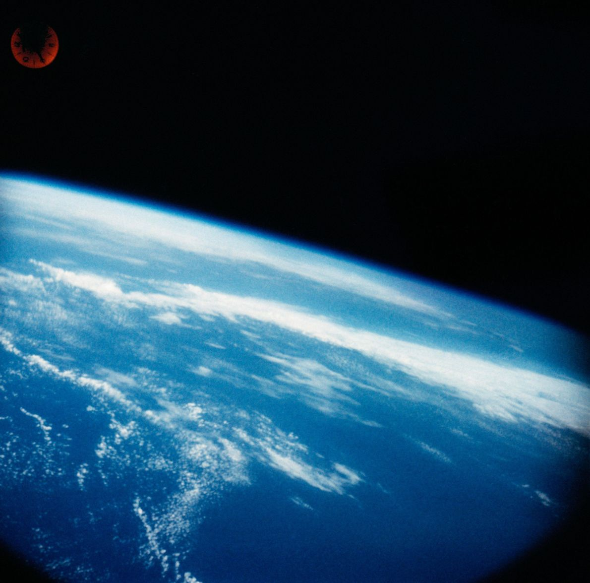 Wally Schirra took a heavily modified Hasselblad camera into space with him. The images of Earth ...