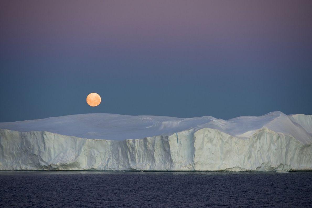Moonrise, Antarctica