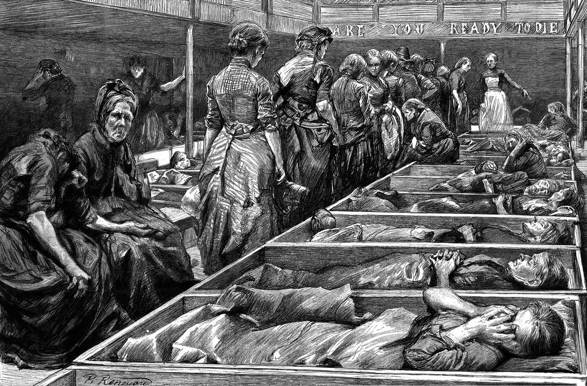 When they could, poor Whitechapel women would pay a few pennies for a bed in a ...