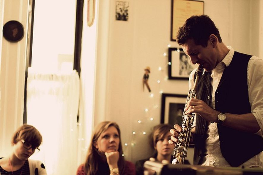 A man plays jazz music