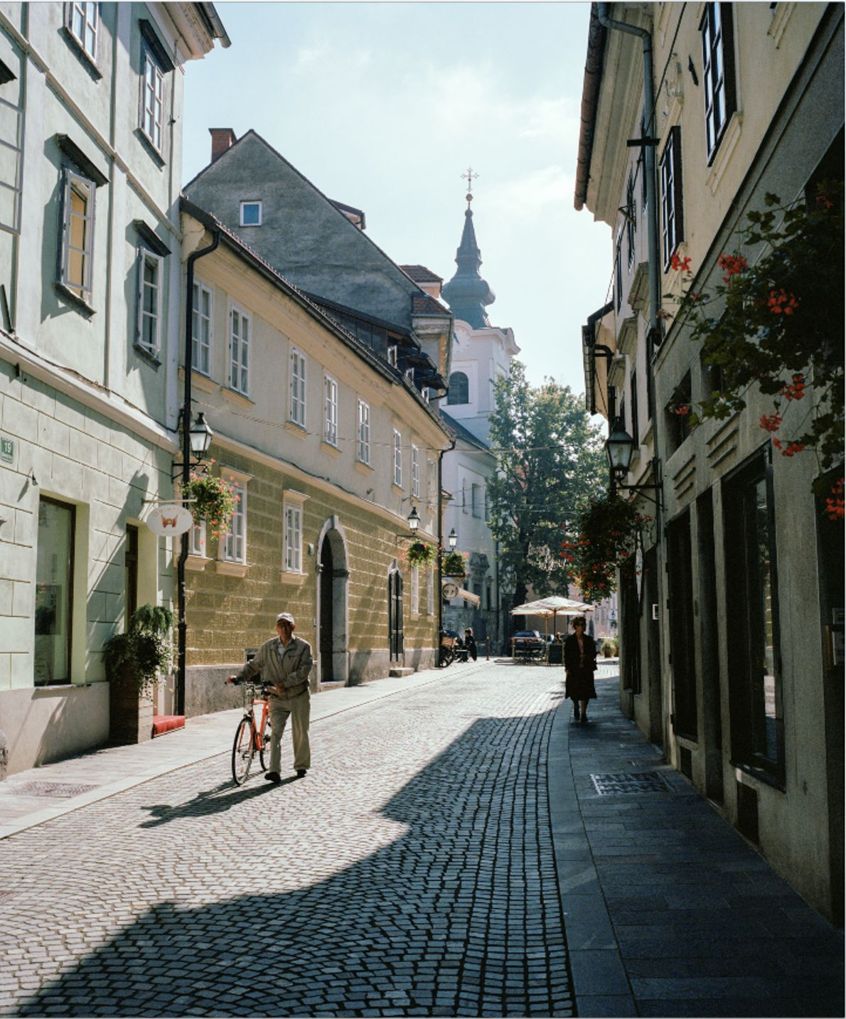 The sun-drenched streets of Slovenia's capital, Ljubljana. In less than two hours' drive from here, you ...