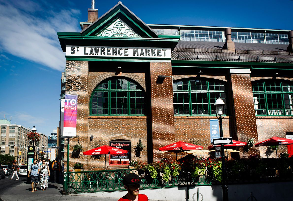 St. Lawrence Market is located in historic Old Town in a stunning brick complex composed of ...