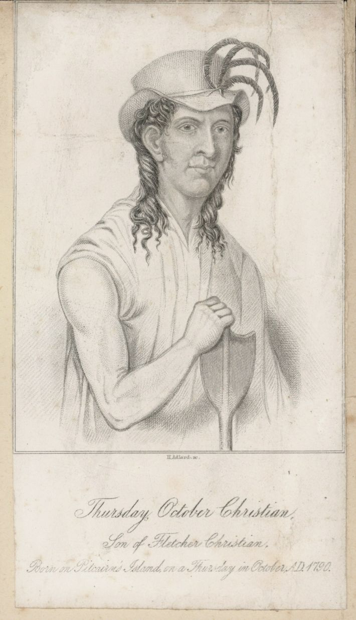 Thursday October Christian, son of Fletcher Christian (engraving)