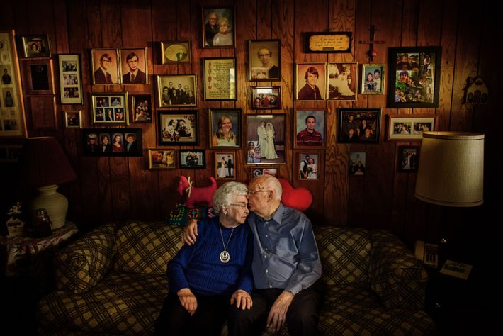 """""""Joan and Carl sit together inside of their home of 54 years,"""" writes Your Shot photographer ..."""