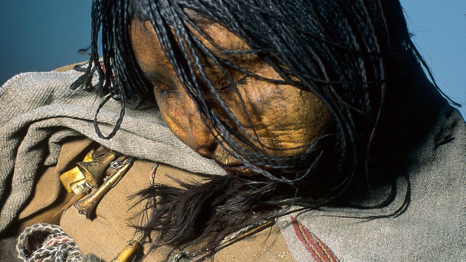 inca sacrificed maiden hair studied