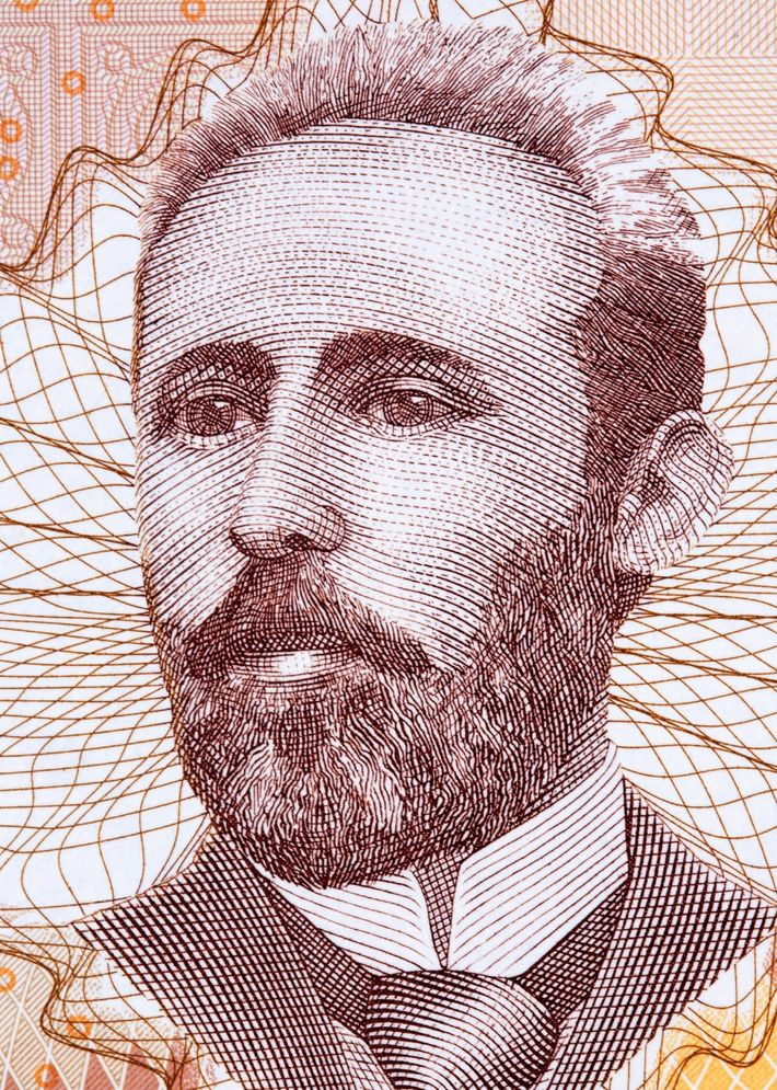 Similarly, one version of the country's 100-mark note features Serb writer and activist Petar Kočić, pictured ...