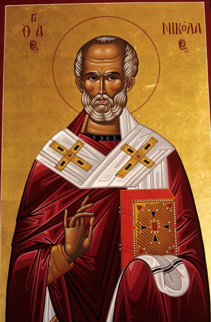 A religious icon representing St. Nicholas.