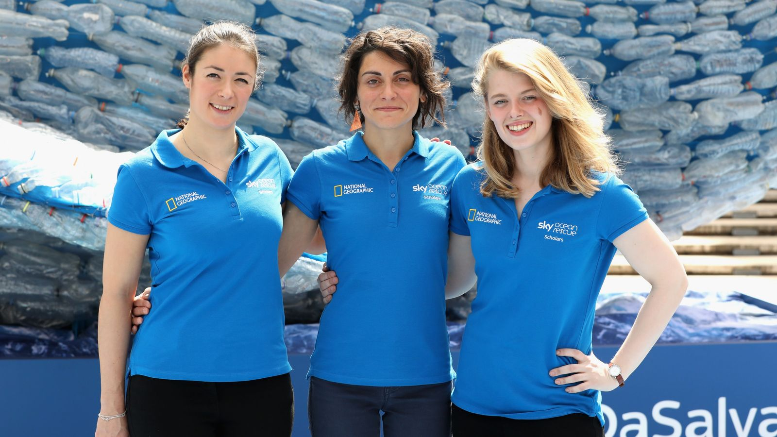 The three successful Sky Ocean Rescue scholars (l-r): Dr Annette Fayet, Dr Martina Capriotti and Imogen ...