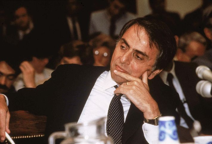 Sagan testified at a congressional hearing in 1985 on the climatic, biological, and strategic effects of ...