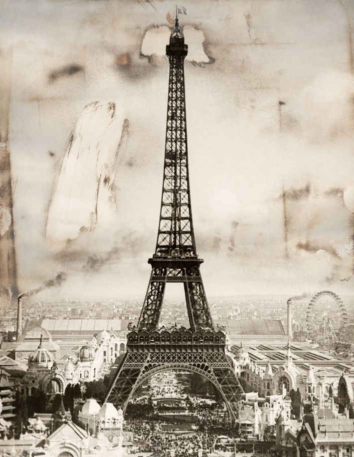 The ne plus ultra of Parisian icons is surely the Eiffel Tower, seen here in September ...