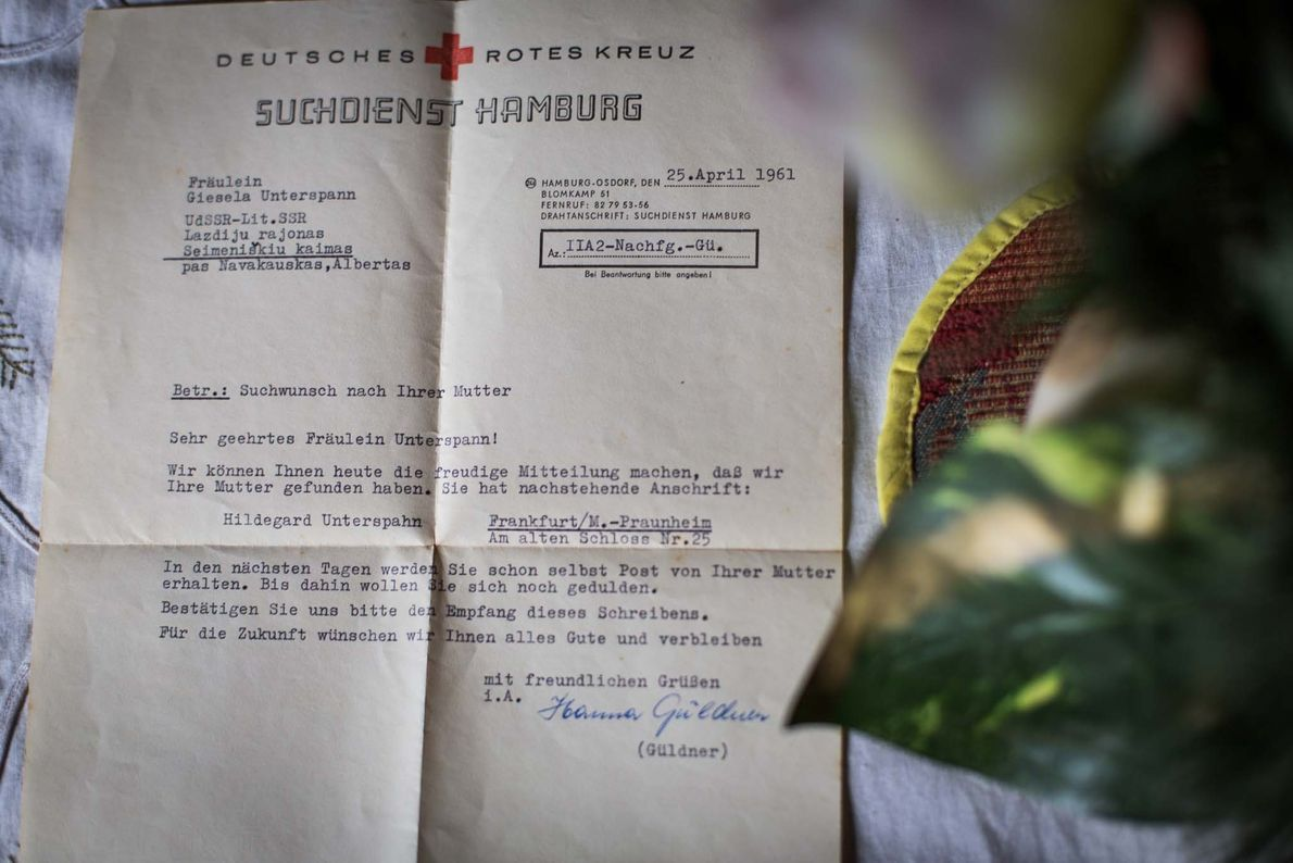 The German Red Cross received thousands of requests to find missing children and parents, and worked ...