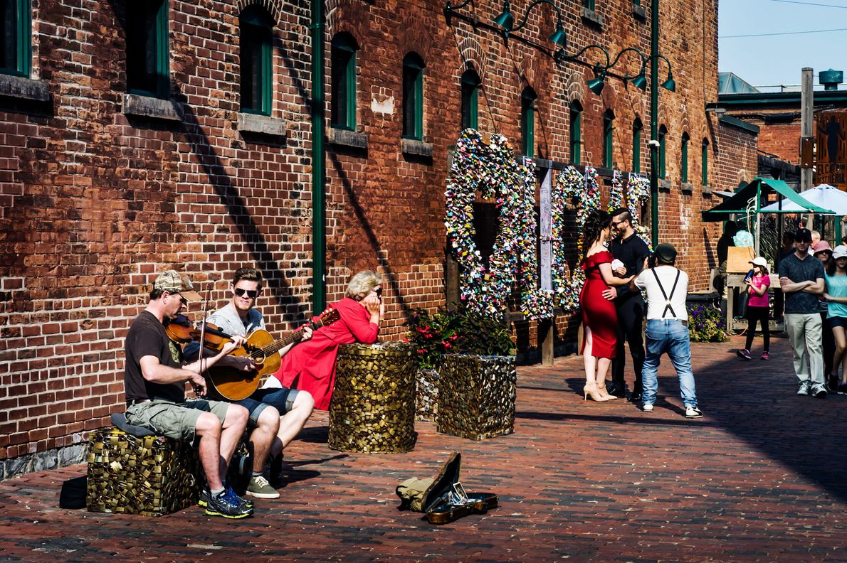 Creativity is on every corner in the Distillery District.