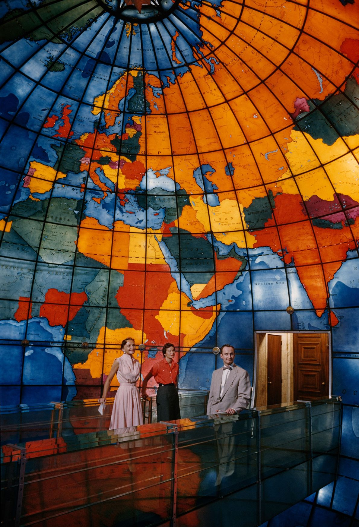 The stained glass in Mary Baker Eddy Library inspires travel around the world.