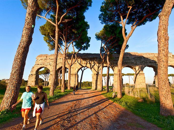 Rome's Parco degli Acquedotti bridges ancient and modern.Photograph by Toni Anzenberger, Anzenberger/Redux