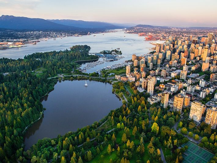 Vancouver's thousand-acre playground, Stanley Park includes lakes and beaches.Photograph by Paul Langrock, Zenit/laif/Redux