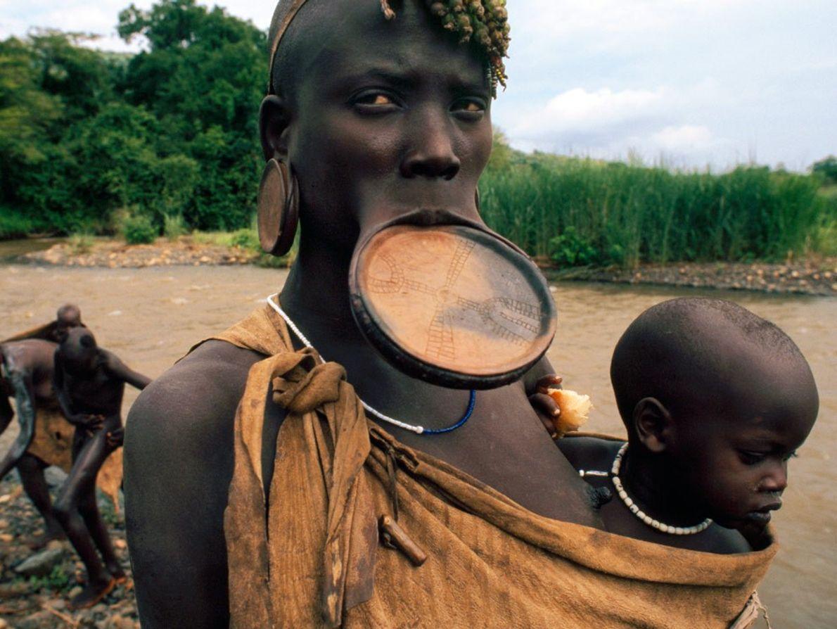 Mursi Tribeswoman
