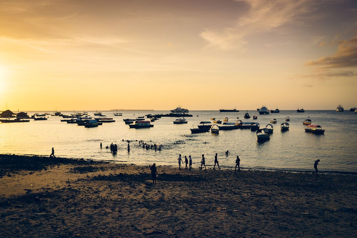Sunset in Stone Town