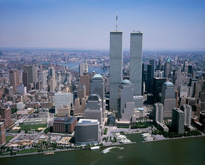 New York's World Trade Centre, as it was before the September 11th, 2001 attacks. When completed ...