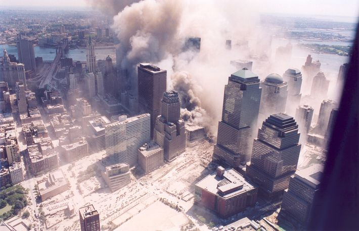 When the towers collapsed following the impact of the hijacked aircraft and the fires that weakened ...