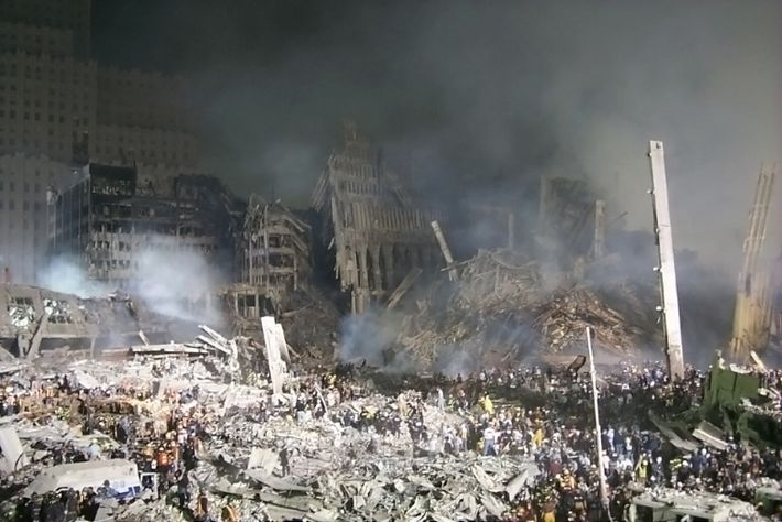Survivors were found in pockets beneath the rubble of the World Trade Centre - nicknamed 'the ...