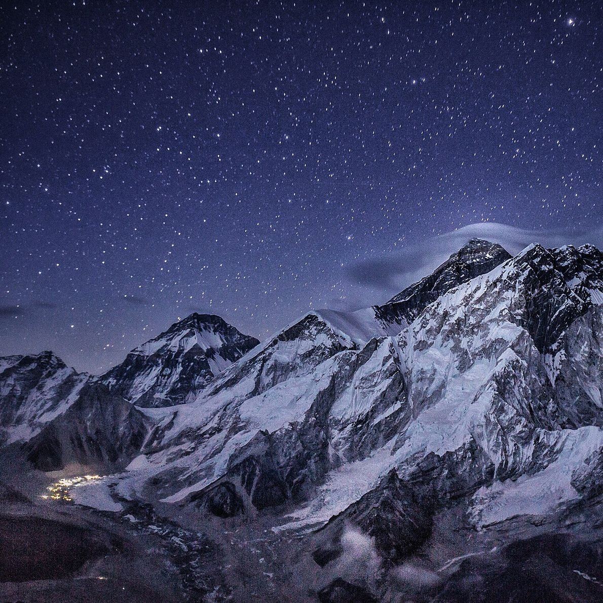 """""""Pictured here is Everest just after the 2014 tragic avalanche that killed 16 high-altitude workers. The ..."""