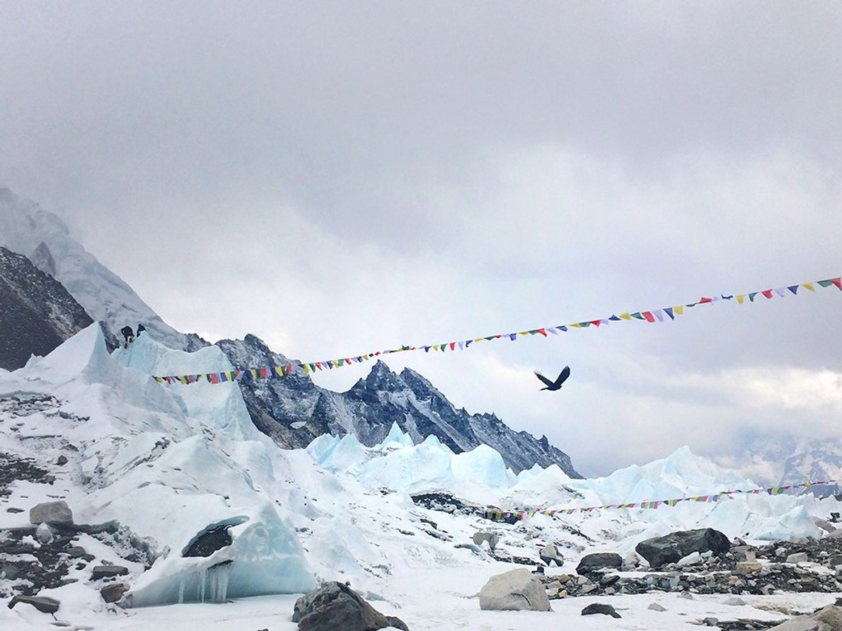 """""""I took this shoot at Everest Base Camp on the April 18, 2014, the sad day ..."""