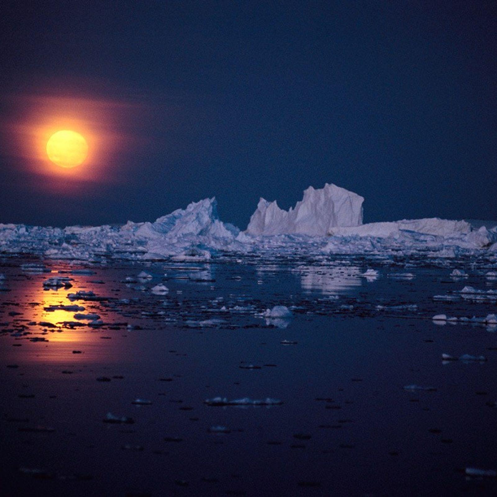 Moon Over Antarctica