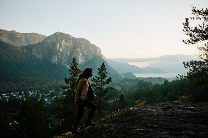 Squamish sits at the northern tip of the island-dotted Howe Sound, and is surrounded by mountains ...