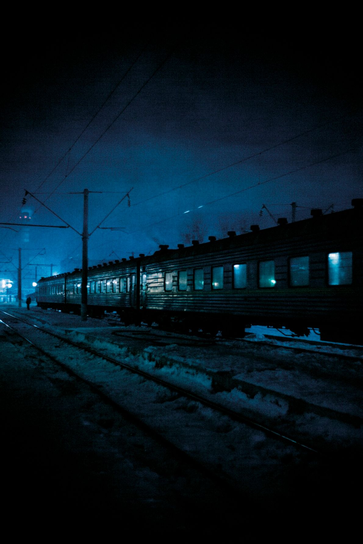 Ukraine, 2018: rail line where youngsters Arthur (10) and Anna (8) Rose escaped Lviv on a ...