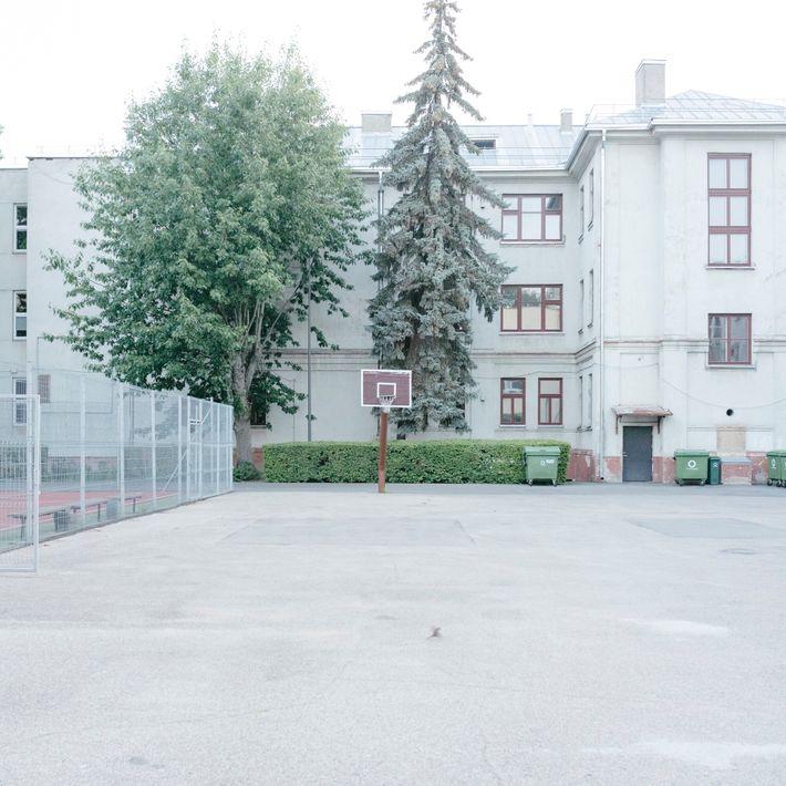 Lithuania, 2019: Site of Lietūkis Garage Massacre, Miško street, Kaunas. Here, in June 1941, around 60 ...