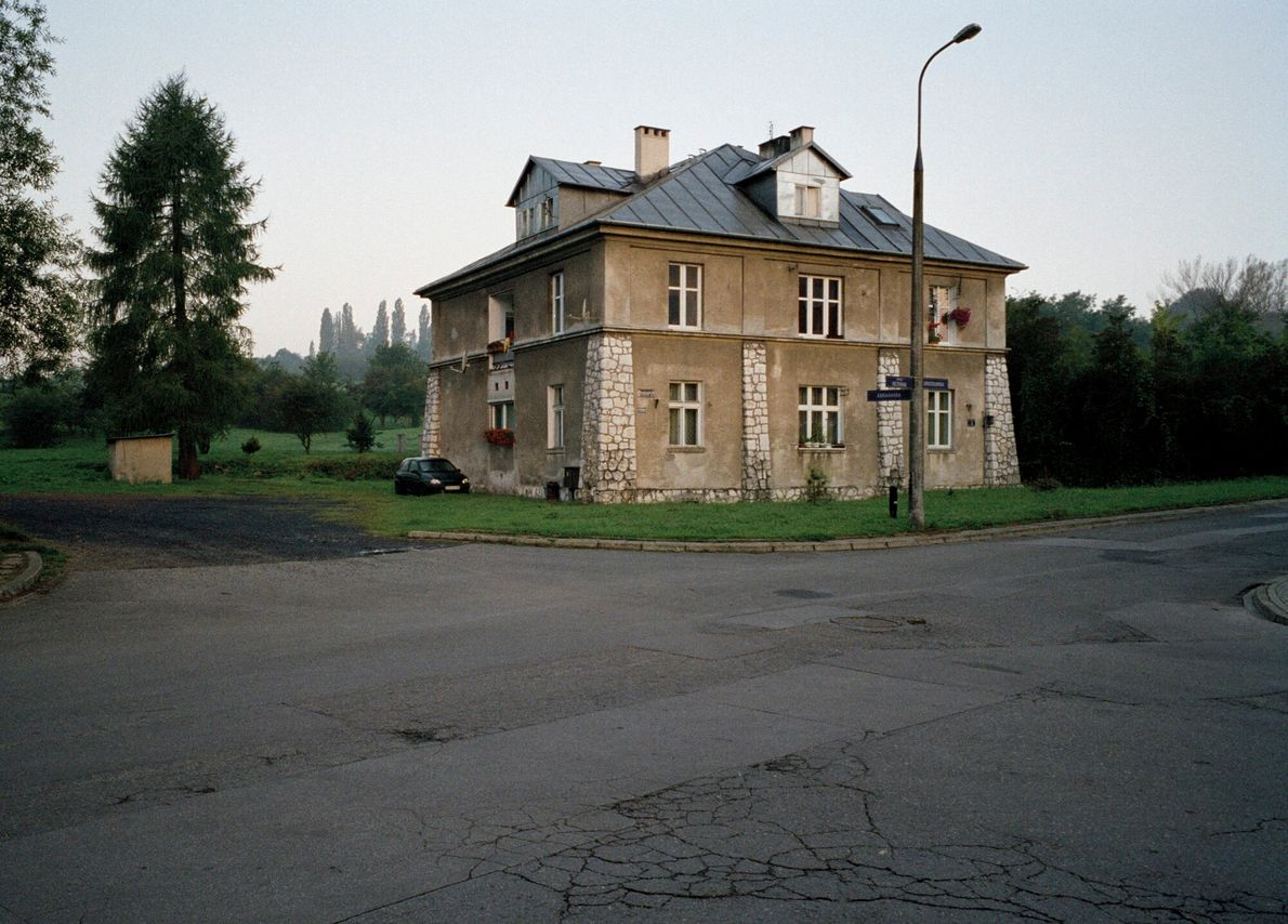 The 'Grey House' at the former Płaszów concentration camp, near Krakow, Poland. The building was used ...