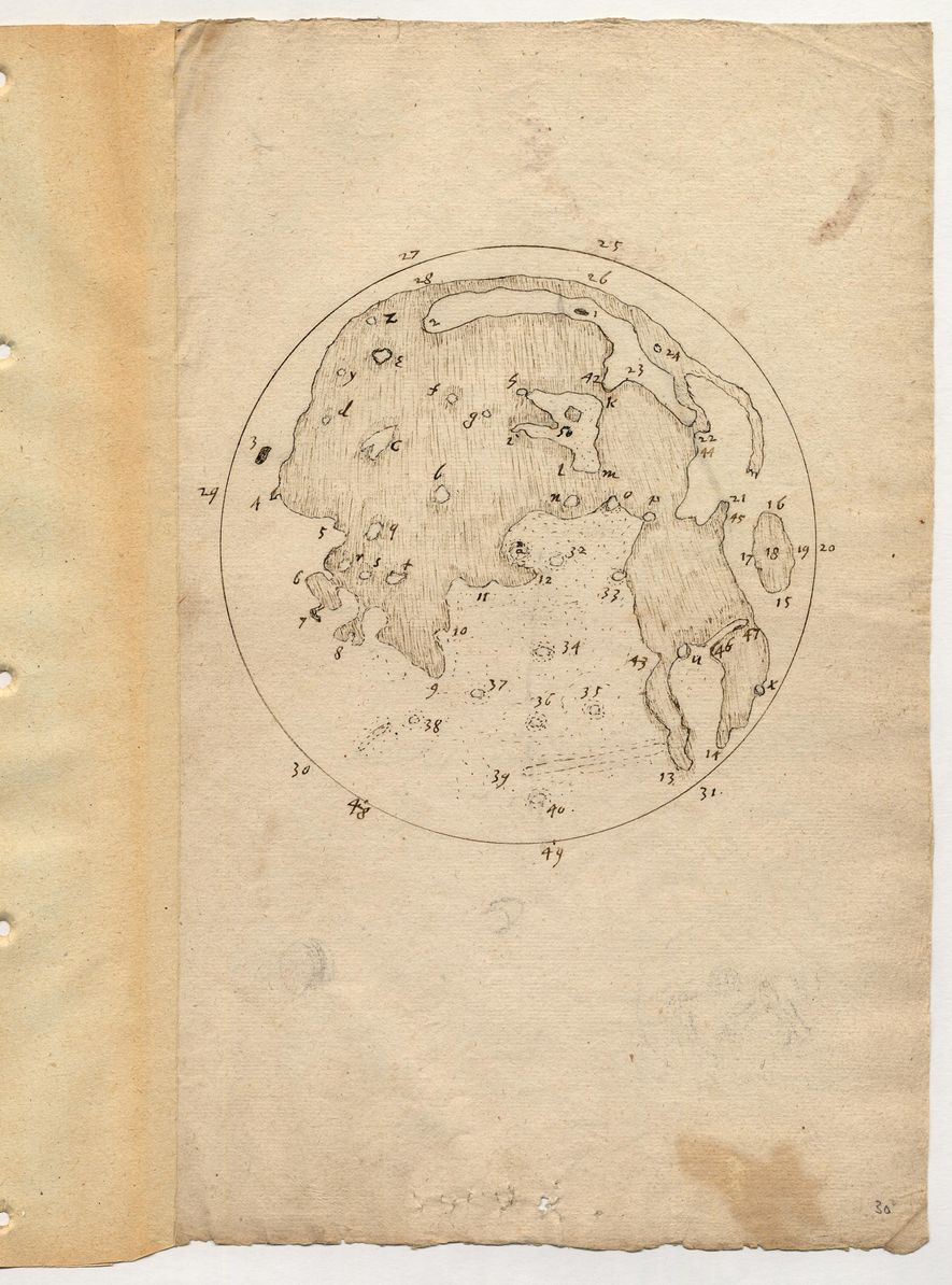 Harriot's second image of the moon – dated between 1610 and 1613 – is much more ...