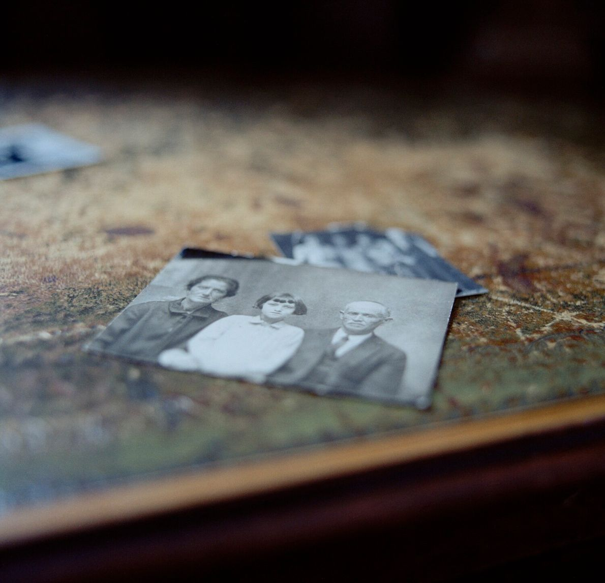 Aaron Ianco (1870-1943), right, in a photograph of a photograph taken by his great grandson, Marc ...