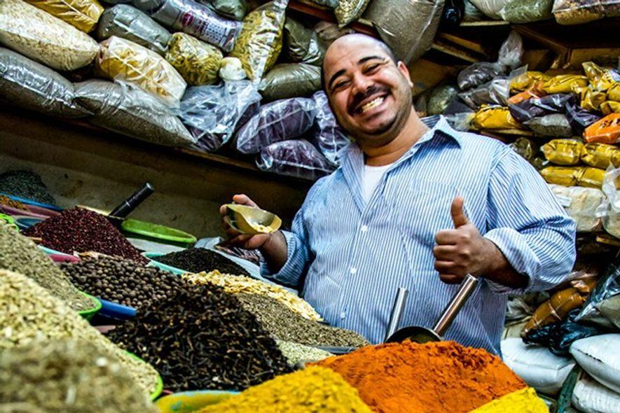 Market stall in Aqaba's market