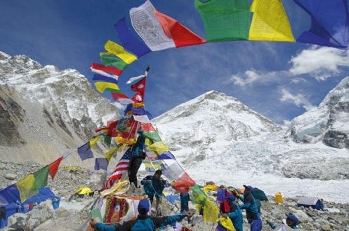 Prayer flags at Everest Base Camp