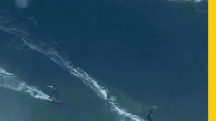 Rare Double Ride Off Praia do Norte