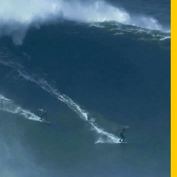 Rare Double Ride Off Praia do Norte