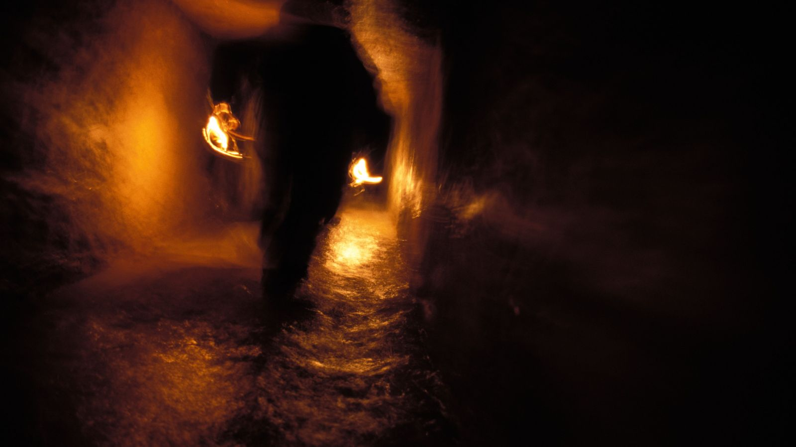 Cataphiles exploring the underground world of the Parisian 'catacombs'. Some of the catacombs are open as ...