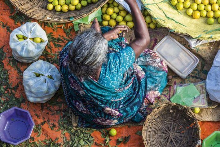 KR Market, Bangalore. Image: SuperStock