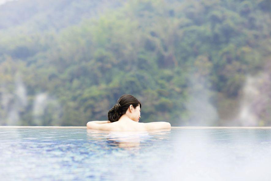 An onsen, a Japanese hot spring