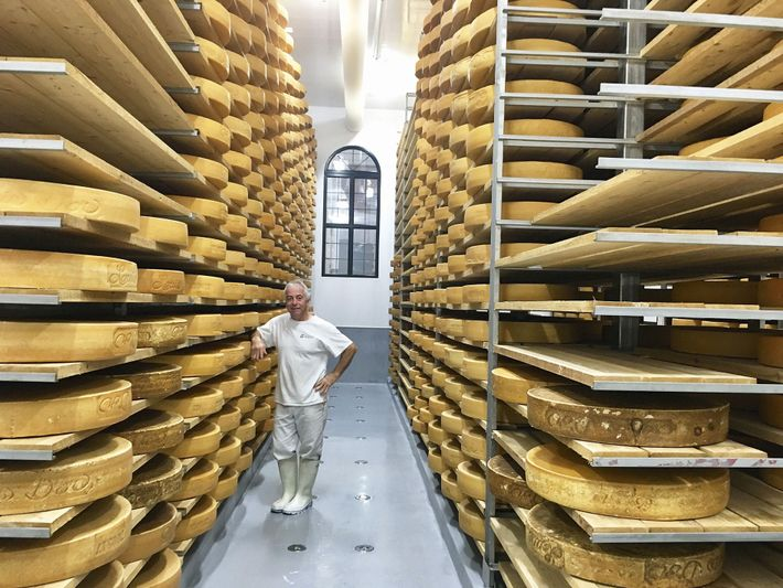 Jean Morin at his cheese factory