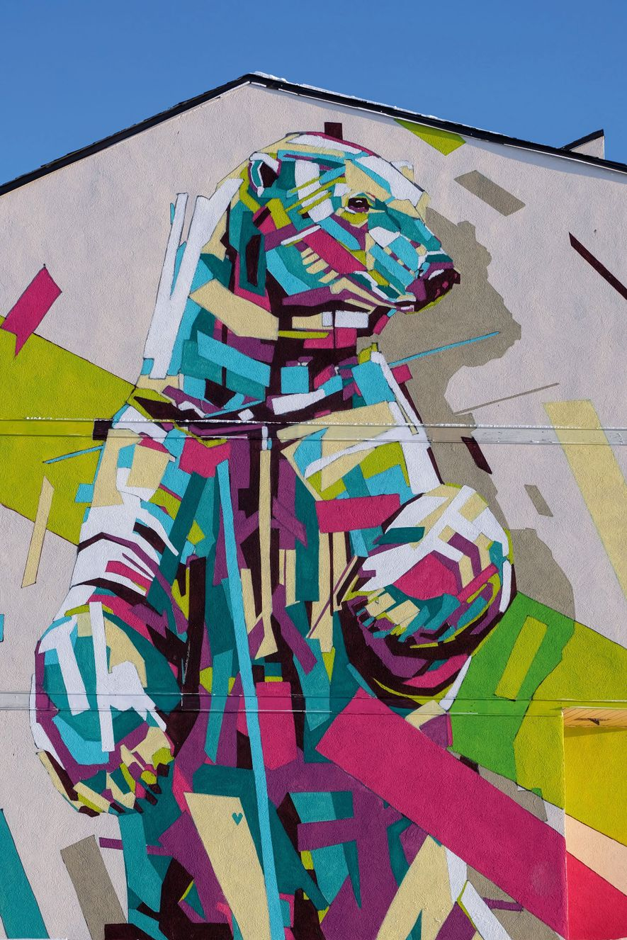 Polar bear mural