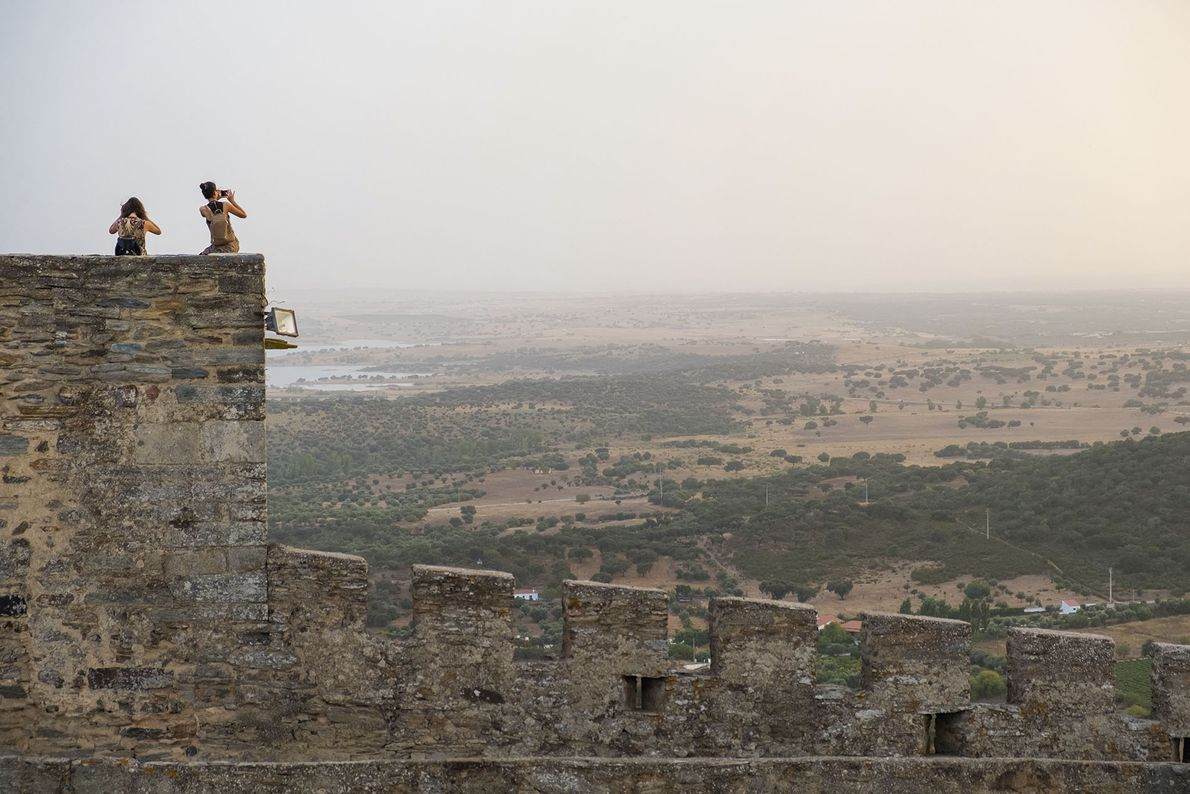 Monsaraz Castle with the Great Lake in the background.