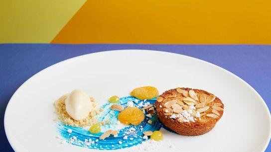 Almond cake at Rex Whistler Restaurant at Tate Britain