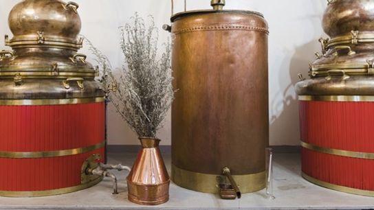 Ancient stills at Distillerie Guy, Pontarlier