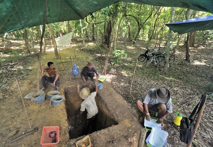 Archaeological dig at Angkor Wat