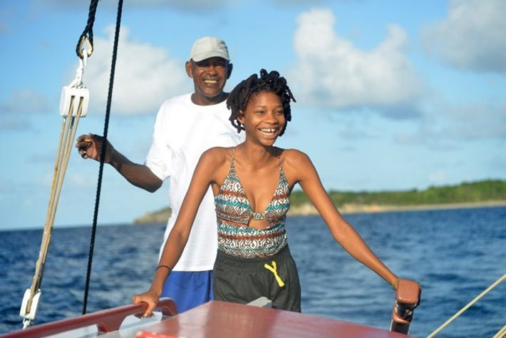Sailing aboard Tradition, Anguilla. Image: Pól Ó Conghaile