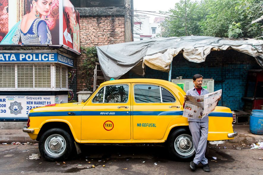 Cities category winner: Taxi driver in Kolkata, India