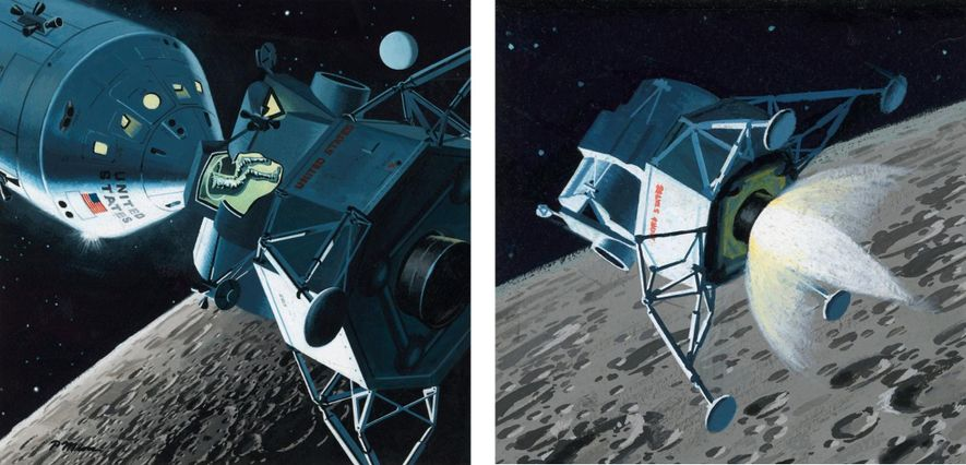 Lunar Module Orbits the Moon, March 1964